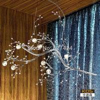 Kadi Sen Italian original design and innovative hotel restaurant bar parlor LED lighting crystal chandelier branches