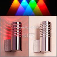 10pc 2014 New Modern Led Wall Light Lamp Aluminum 1W spotlight for Bedroom Corridor Porch/home/KTV/bar indoor Christmas new year