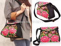 New Fashion Designer Bohemia Embroidery Messenger Bags Cotton Handbags Women Causla Bag Christmas Gift for Mother Free Shipping