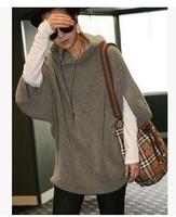 NEW Women Girls Half Sleeve Hoodie Jacket Sweatshirt Hooded Coat Outerwear Tops 2014112507