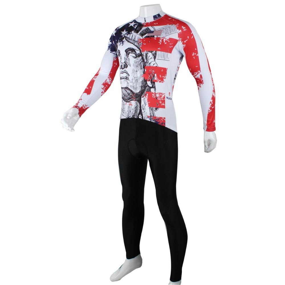 HOT SALE Paladin men's cycling jersey America long sleeve/sets special clothing wear fashion bike tops kits S-3XL(China (Mainland))