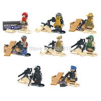 Hit Movie of the the police anti-terrorism elite t the 8pcs/set Building Block Educational DIY Toys B001