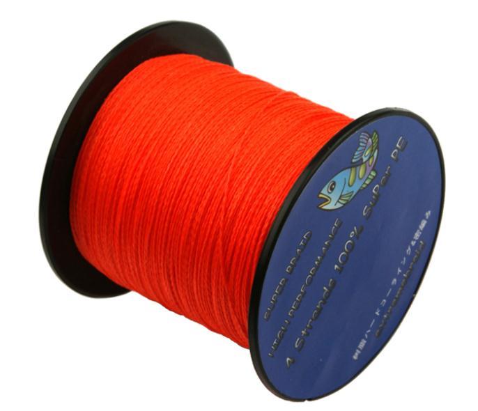 100% PE 8 Wire Braided Orange Fishing Line Equipment Professional Fishing Lines 100 M 130 LB Hot(China (Mainland))