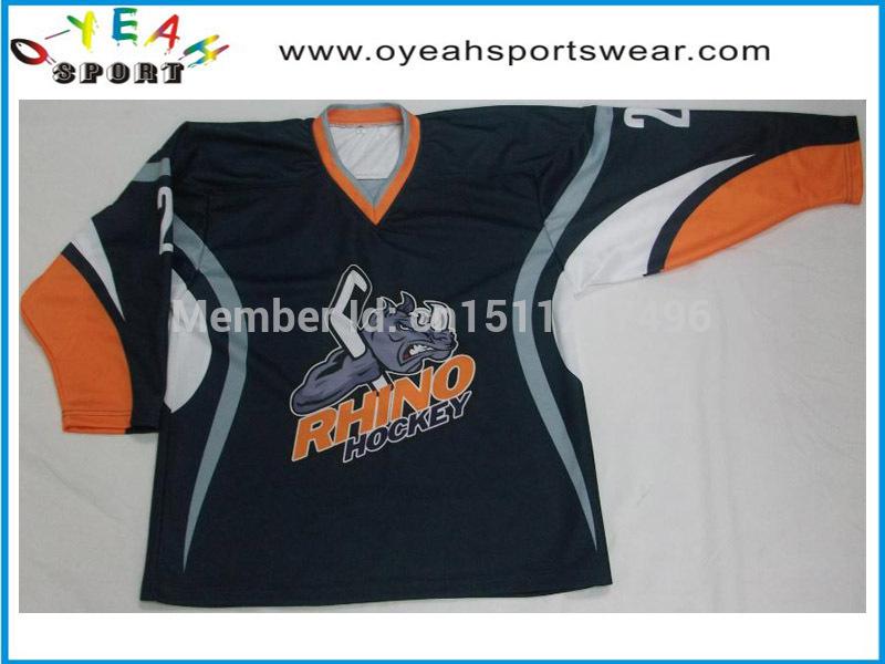 customized sublimation team ice Hockey Jerseys reversible hockey wear(China (Mainland))