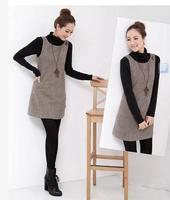 Autumn and winter woolen  dress slim tank dress vest dress female plus size braces dress S,M,L,XL,XXL,XXXL free shipping 00105