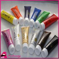 12 Colors/lot Acrylic UV Gel Design 3D Paint Tube Nail Art Pen Nail Polish False Tips Drawing