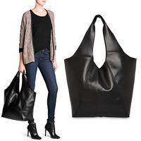 New European and American Style Women Shopping Bag Brand Black Handbag Hobos Bags Free Shipping