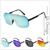 Aviator Pilot Brand Design Siamese Sunglasses Mirrors Rivet Eyewear Sun Glasses for Men/Women Vintage Fashion oculos de sol