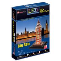 Cubic Fun 3D Puzzle Toys LED Big Ben Model DIY Education Puzzle Gift L501h