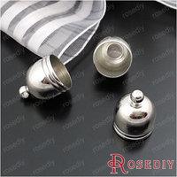 (28851)Diy Jewelry Accessories,14*12MM,inside 10.8MM Imitation Rhodium Copper Rope Caps 20PCS