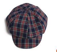 Korean fashion style popular wild casual plaid lines octagonal cap, hat female painter personality