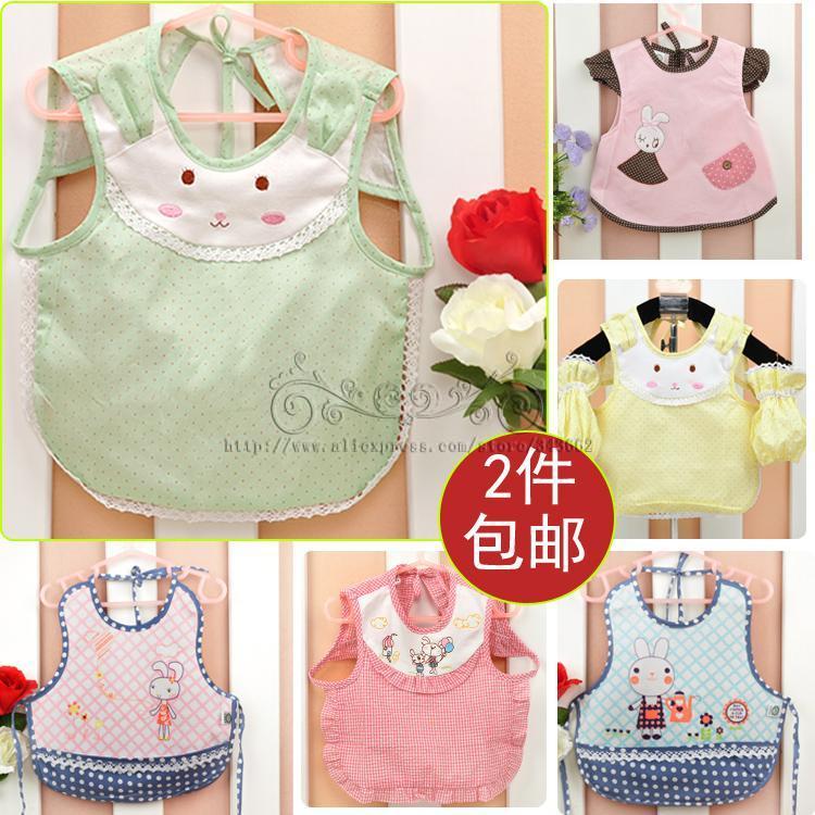 Baby saliva towel water proof cotton velvet double child large meals Pocket colthing babador bib bibs baberos DD01(China (Mainland))