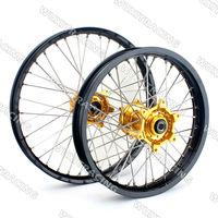 Wheel Rim Set For KTM EXC SX SXF 125 150 250 350 450 530 1.6X21 2.15X18 Black Rim with Gold Hub Complete