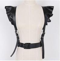 2014 models personality style lace shoulder straps tide women PU decorative belt