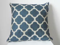 """New Vintage Cotton Linen Square Throw Pillow Case Sofa Cushion Cover  pillowcase Shell Blue Pattern 18"""""""