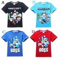 Wholesale Fashion Kid T Shirts Minecraft T-Shirt Boys Clothes Short Sleeve Casual Shirts Children Clothes