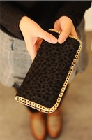 Free shipping 2014 new Women's wallet hot European and American Queen style horsehair leopard purse