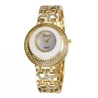 3 Colors Fashion Ladies Gold Diamond Quartz Analog Wrist Watches Nice Gift For Women 86018