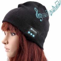 Smart Talking Keep Warm Music Beanie Hat Women/Men Winter Warm Hats Built-in Wireless Bluetooth Stereo Earphones SG Freeshipping