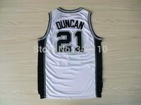 Free Shipping San Antonio Tim Duncan Jersey Cheap Basketball Jersey Tony Parker Kawhi Leonard Manu Ginobili Jersey Shirt Uniform