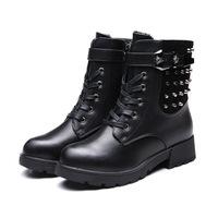 2014 Winter new Canada cashmere warm European fashion rivet belt buckle boots