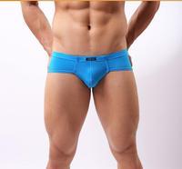 Men's underwear Ultra-thin transparent underwear transparent ice silk underwear Men low waist shock convex pouch briefs