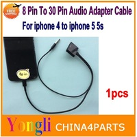 1pcs Dock Connector Charger Adapter. 8 Pin To 30 Pin Dock 3.5mm Sync Charging Audio Output Converter For iPhone 6 6plus 5 5S