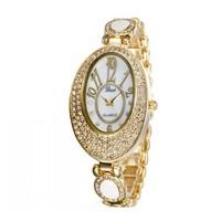 3 Colors New Fashion Oval Diamond  Hours Analog Quartz Watch Wristwatches For Ladies 86021