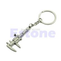 B39 Hot-selling Novelty Simulation Movable Vernier Caliper Model Keyring Key Chain Specail Gift free shipping