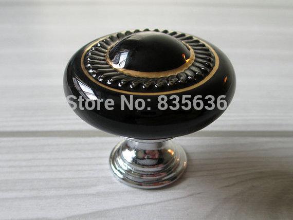 Knob Drawer Knobs Pulls Handles Ceramic Kitchen Cabinet Knobs Black