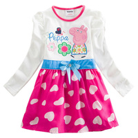 Free shipping New Arrival Peppa Pig girl dress,cartoon dress,hot sale dress,5pcs/lot wholesale