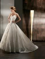 New Morden Fashion Free Shipping Sweetheart Strapless Lace Ball Wedding Dresses Bridal Gowns Vestidos de Novia Custom Made 2014