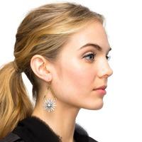 Fashion Jewelry Women Vintage Exaggeration Earrings High Quality Sun Crystal Stud Earrings