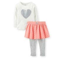 Retail,Carters Original Baby Girls 2-Piece T Shirts & Dress Legging Set ,Baby Girls Cute Clothing Set Free Shipping IN STOCK