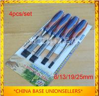 Free Shipping 4pcs/set wood chisel sets Aggravated gouge woodworking knife carpenter's DIY Tools