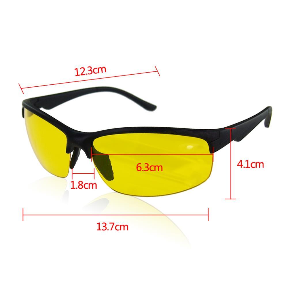 HD High Definition Polarized Sunglasses Night Vision Glasses Driving Yellow Lens Classic Aviator Anti glare glasses