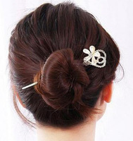 SF675 New Designer Wholesale Fashion Hairpins Rhinestone& Pearl Butterfly Hair Barrettes Hair Sticks For Women