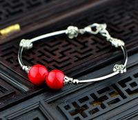 Chinese style female vintage bracelet 925 tibetan silver bracelet sl0218726 free shipping