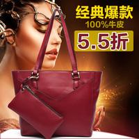 Motorcycle 2014 cowhide shoulder bag fashion bag picture one shoulder handbag casual handbag women's big bag