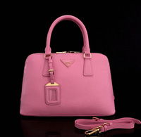 P Famous Top Designer Luxury Women Genuine Leather Handbags Brand Casual Fashion Ladies Red Elegant Big Shoulder Bags