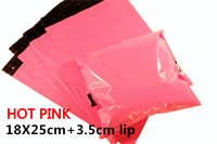 [cnklp]-Hot Pink 18x25cm+3.5cm lip Co-extruded Multi-layer SELF SEAL POLY MAILERS BAGS ENVELOPE [20PCS]
