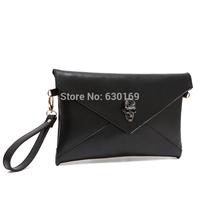Genuine leather women's handbag small bag one shoulder cross-body multi-purpose clutch vintage envelope bag