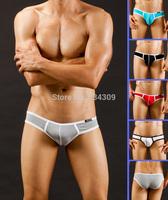 2PCS New Mens Sexy Underwear Modal Briefs Low Rise Enhance Pouch Brief Comfy Soft Tanga Male Underpants Bottoms Shorts S M L