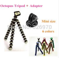 GoPro Mini Flexible Camera Tripod Octopus Bubble Tripod with Mount Adapter for SJ4000 Camera Go Pro Hero 3+ 3 2 HD Accessories