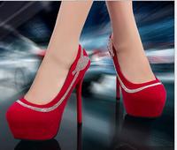Women shoes 2014 ultra high heel platform wedding sexy Women Stiletto shoes pupms party shoes