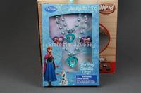 NEW arrival Frozen Party  blue Jewelry Set Necklace Pendant Kids Bracelet