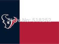 Houston Texans Flag 3x5 FT  Banner 100D Polyester NFL flag 121, free shipping