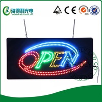 Wholesale animational led open sign/ DC12V acrylic flashing sign/electronic neon letter acrylic sign /9*19inch window sign