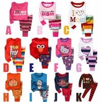 2014 New Autumn Fashion Cartoon Pijamas Kids Pajamas Boys Girls Clothing Sets Casual Suit Pyjamas 6 sets / lot 1453