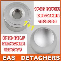 1pcs Universal magnetic detacher EAS superlock detacher golf  12000gs + 1pcs Super strong detacher 15000gs
